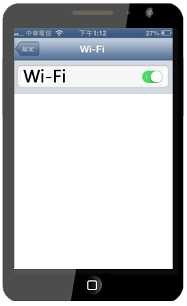 Tap Wi-Fi, and set Wi-fi to on.